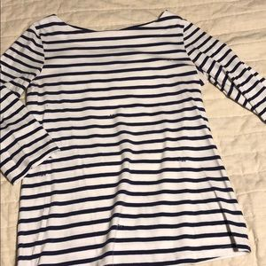Lilly Pulitzer striped navy top